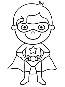 Superhero All About Me   Super Hero All About Me