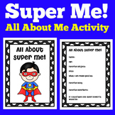 Superhero All About Me Printable Poster