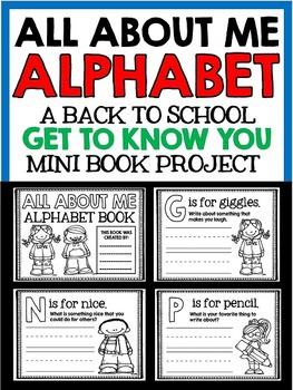 All About Me - Back to School Alphabet Book - Writing and Reading Practice