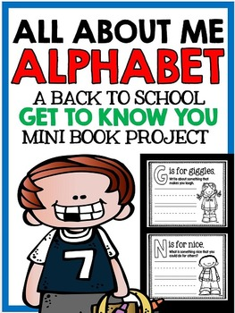 All About Me - Back to School Alphabet Book - Writing and