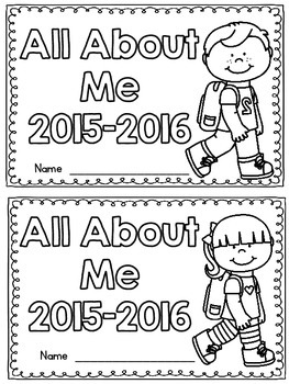 All About Me Booklet