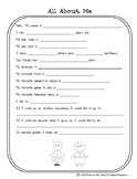 All About Me - 1st Grade Journaling Activity