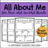 All About Me (1st and 2nd Grade)-Back to School-Getting to