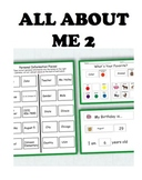All About Me 2: Interactive Worksheets to Work on Personal Information