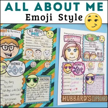 All About Me with Fun Emojis / Back to School / First Week