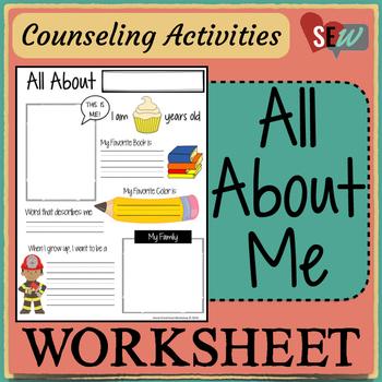 Free All About Me Worksheet by Social Emotional Workshop | TpT