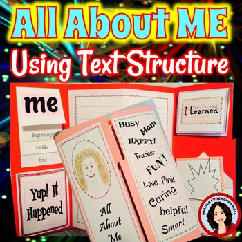 Narrative Writing, All About Me Lapbook using Text Structure