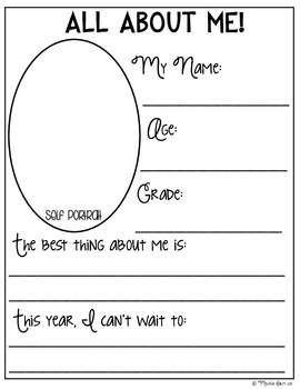 All About Me {FREEBIE}