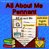 Back to School Activities : All About Me (Australian Engli