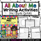 Back to School Writing Activities for Upper Grades