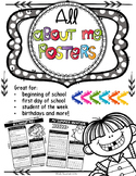 All About Me: Back to School Posters