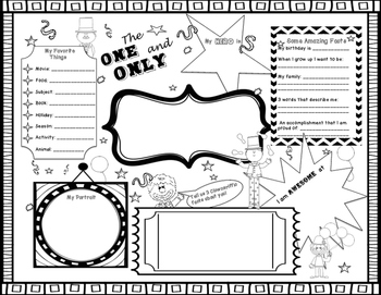 All About Me - Back to School Activities