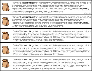 All About Me for Back to School