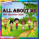 FREEBIE All About Me NO PREP - Teletherapy