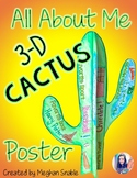 All About Me 3-D Cactus Poster