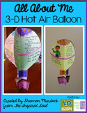All About Me 3-D Hot Air Balloon