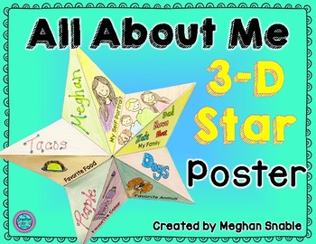 All About Me 3-D Star Poster