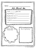 First Day of School- All About Me