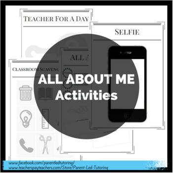 All About Me - Multiple Activities & Templates