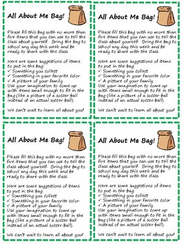 All About Me bag label