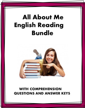 All About Me: 4 Easy English Readings at 30% off!: ESL / EFL / ELL  (Version 1)