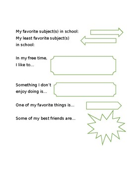 All About Me - IEP
