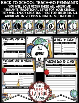 Back to School Activity 4th Grade  & All About Me Poster Pennant