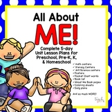 All About Me!  5-Day Unit/Lesson Plans for Preschool, Pre-K, K, & Homeschool