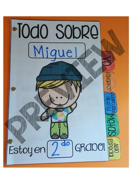 All About Me 5-Tab Book in Spanish