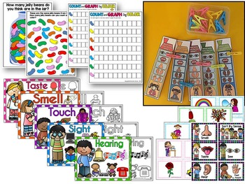 The Five senses lesson plans & Literacy & Math activities -ALL ABOUT ME