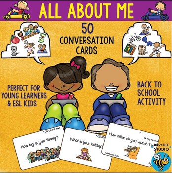 "ESL Conversation Cards ""All About Me"""