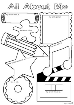 Back To School All About Me Free Worksheet By Pyp Creative