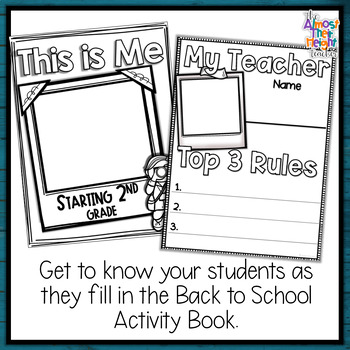 All About Me - A Back to School Activity Pack for 2nd Grade