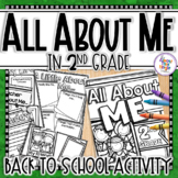 A Back to School All About Me 2nd Grade Activity Pack