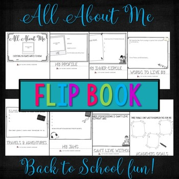 All About Me! A Back to School Flip Book