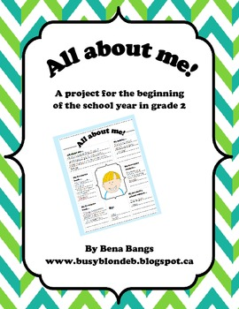 {All About Me!} A Getting-to-Know-You Project for Grades 1-3