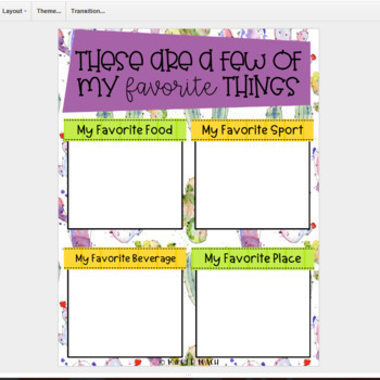 All About Me - A Digital Get-To-Know-Me Activity - Cactus Themed!