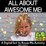 All About Me Digital Back to School Activity with a Cactus Theme