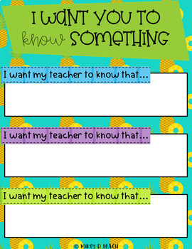 All About Me - A Digital Get-To-Know-Me Activity - Pineapple Themed!