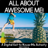 All About Me Digital Back to School Activity with a Tropic