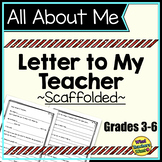 All About Me - A Letter To My Teacher