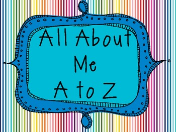 All About Me A to Z Book