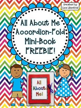 All About Me Accordion Fold Mini-Book ~ Freebie!