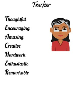 All About Me Acrostic Poem