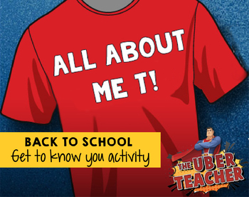 About Me Activi-Tee! {A Back to School Activity}