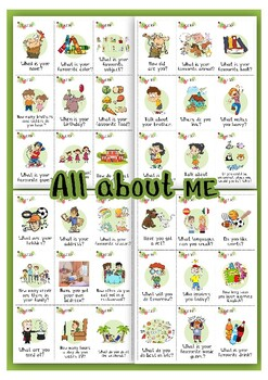 All About Me Activities