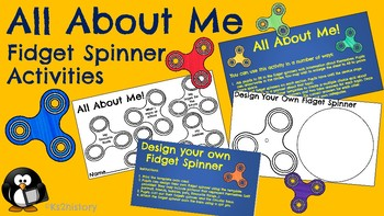 All About Me Activities - Fidget Spinner Theme