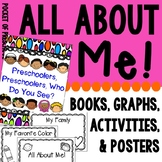 All About Me Activities, Graphs, and More for Preschool, P