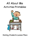 All About Me Activities Printables Back To School!