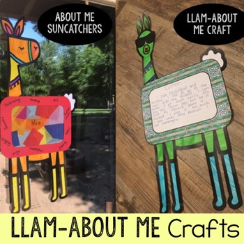 All About Me Activities:  Suncatcher & Writing Craft